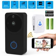 DAYTECH Video Doorbell Wireless WiFi Door Bell Monitor Alarm Door Phone IP Camera Battery Outdoor Waterproof iOS Android