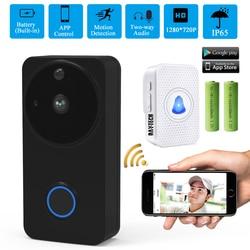 DAYTECH vídeo timbre inalámbrico WiFi puerta campana Monitor alarma teléfono 1080P IP Cámara batería al aire libre impermeable iOS Android
