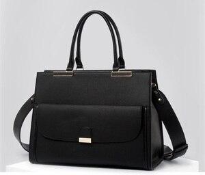 """Image 4 - 2020 موضة العلامة التجارية Kinmac سيدة بولي Leather حقيبة يد جلدية رسول حقيبة كمبيوتر محمول حقيبة 13 بوصة ، الحال بالنسبة لماك بوك اير برو 13.3 """"، دروبشيب 008"""