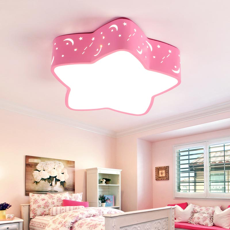Modern 18W Led Ceiling Lights Living Room Kitchen Child Lamp Decor Home Lighting Acrylic Lampshade White Blue Pink Iron 110-240V japanese warm white led wood ceiling lights modern acrylic lampshade tatami bedroom living room light home lamp lighting cl225