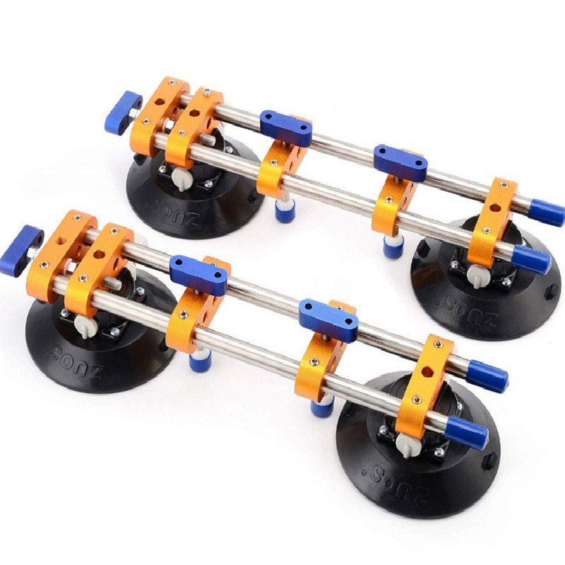 """2pcs/lot Seamless Stone Seam Setter Manual Rubber Vacuum Leveling Setter For Joint With 6"""" Suction Cups"""