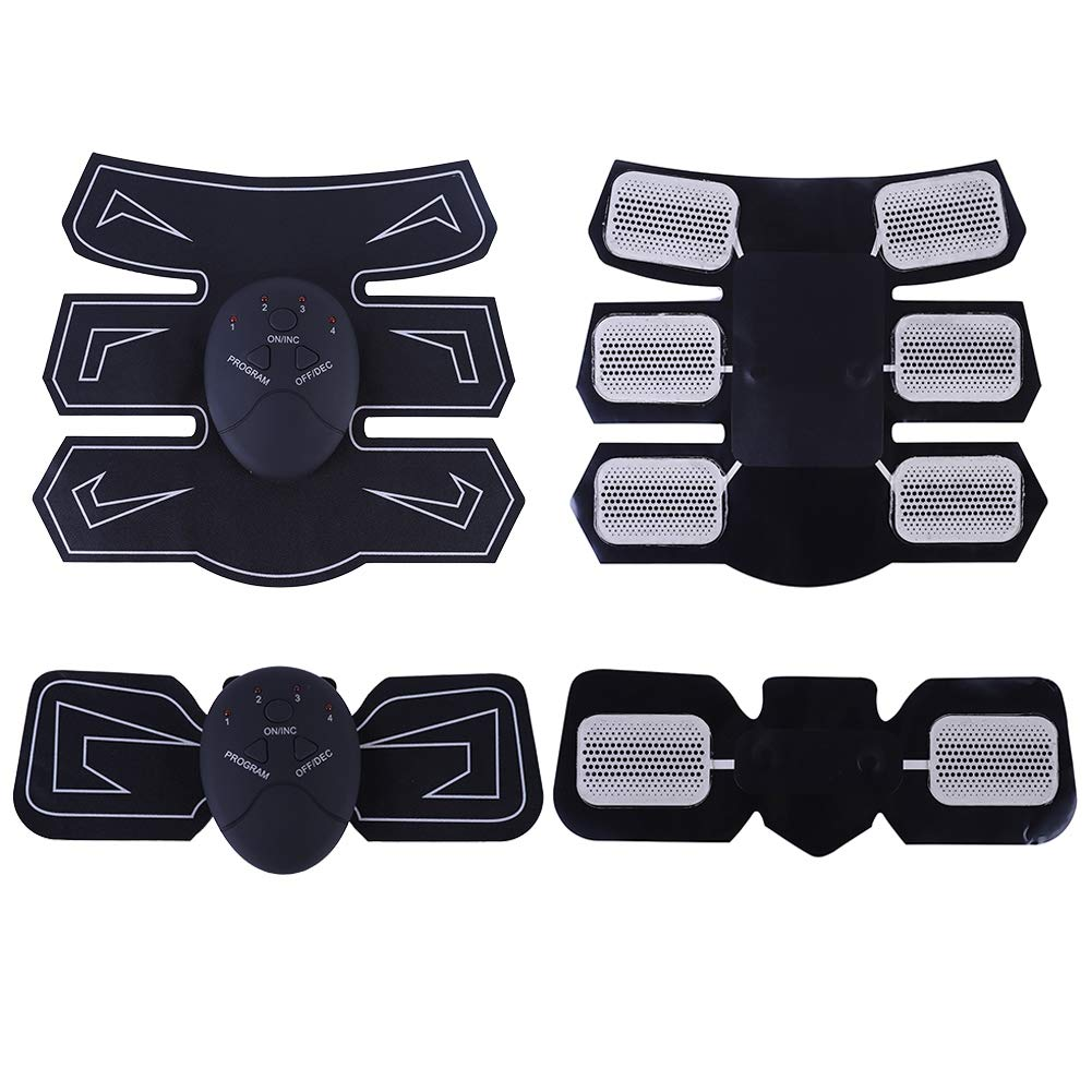 Smart Abdominal Training Pad Wireless EMS Muscle Stimulator Arm Muscle Toner ABS Hip Trainer Body Slimming Belt Gel Pads Unisex