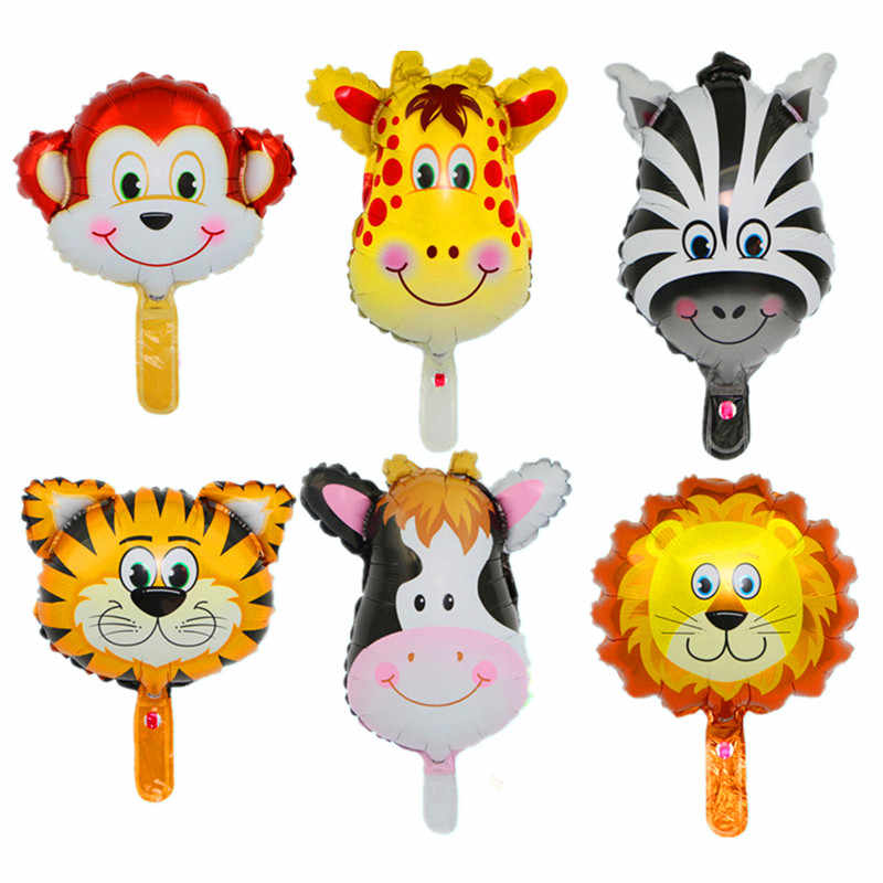 1pc Animal Balloons Jungle Safari Party Baloons Jungle Party Decorations Foil Animal Ballon Birthday Party Decor Kids