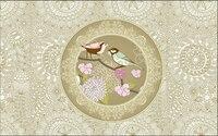 Custom Floral Wallpaper Romantic Aesthetic Pattern Birds 3D Stereoscopic Wallpaper For Living Room Restaurant Bedroom Wallpaper