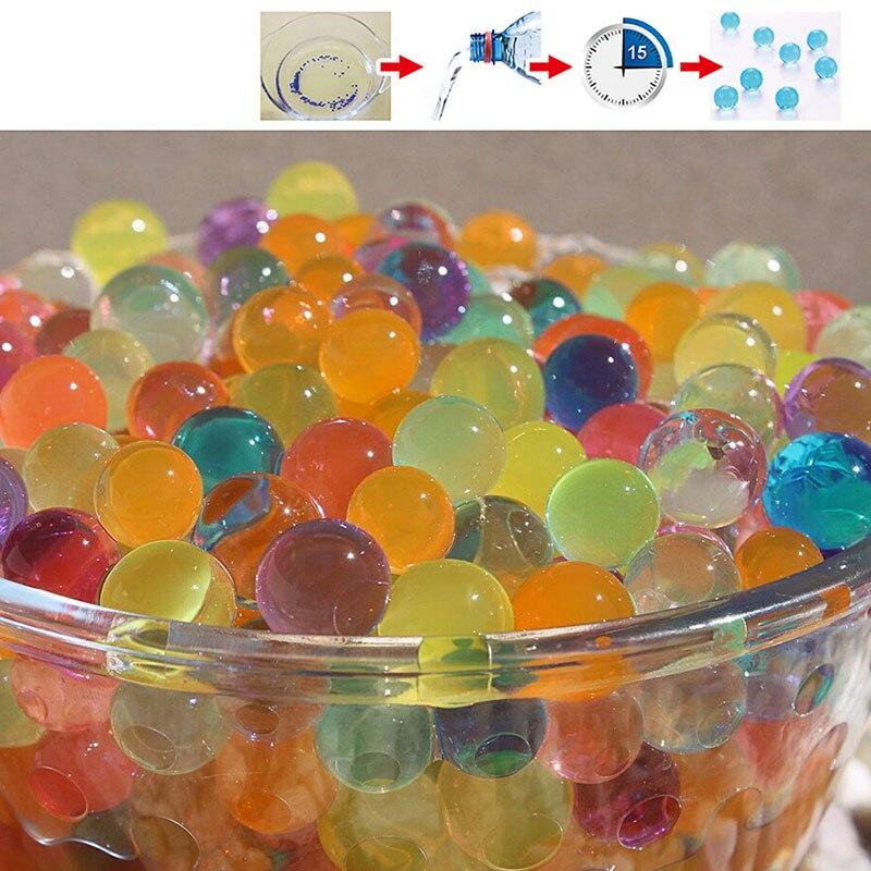 10000Pcs/Bag Pearl Shaped Crystal Soil Water Beads Mud