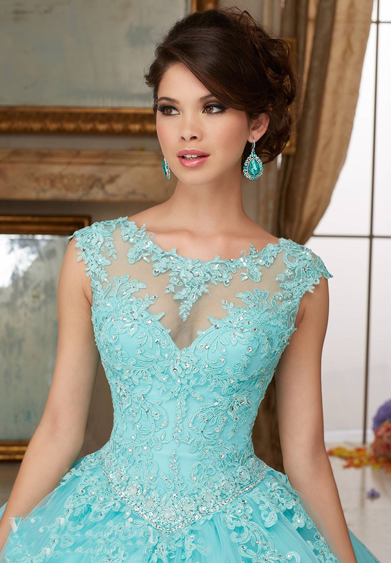 Cap-Sleeves-Scoop-Aqua-Scarlet-Blush-Ball-Gown-Lace-Ball-Gown-Prom-Gowns-Quinceanera-Dress-Sweet