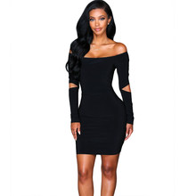 4158fe88e599b Sexy Dress 2018 Europe and America foreign trade slash neck black color  women s new arrive summer dresses 9127