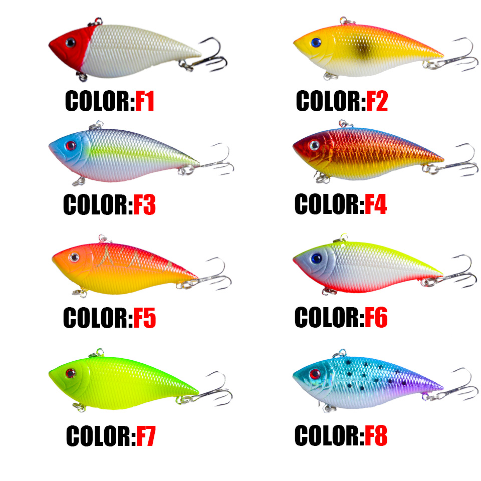 Image 5 - 7cm 11.5g Rattlin VIB Fishing Lure Hard Pesca Wobbler Crankbait Sinking Isca Artificial Fishing Bait Pike Leurre Winter Baits-in Fishing Lures from Sports & Entertainment