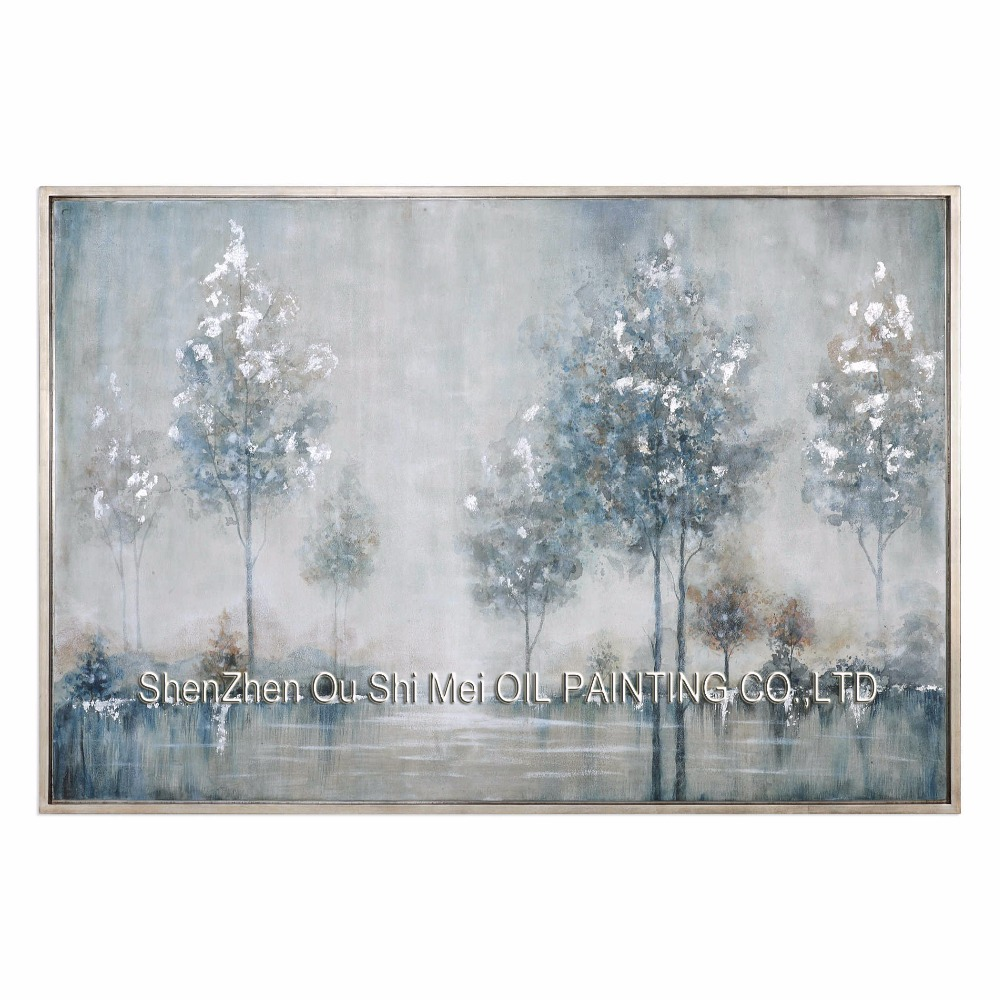 Handpainted Impression Landscape Oil Painting on Canvas Home Decor Modern Lake Tree Obrázek pro Room Wall Abstract Painting