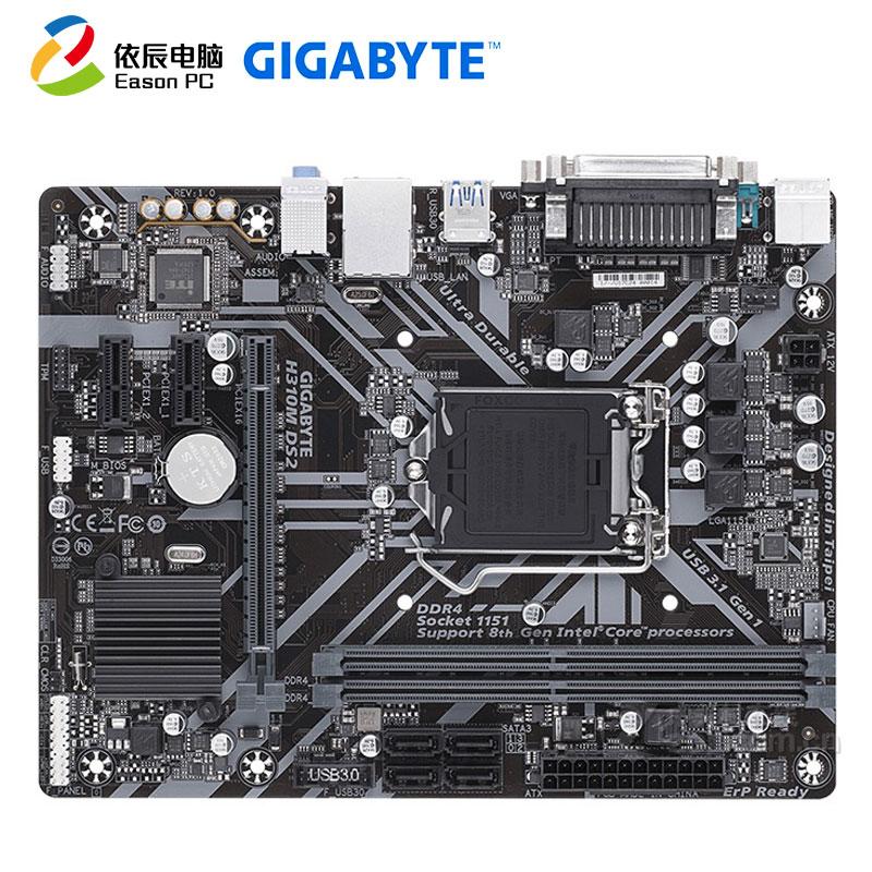 GIGABYTE GA-H310M DS2 Desktop Motherboard LGA1151  DDR4 SATA III 32G Micro-ATX