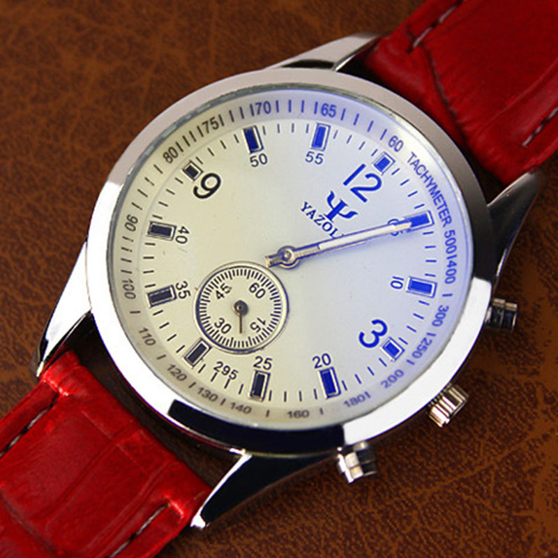 YAZOLE Famous Brand Quartz Watch Women Watches Ladies dress Female Clock Wrist Watch red leather Montre Femme Relogio Feminino C