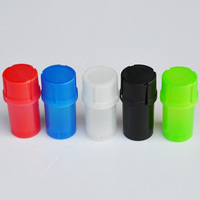 20 PCS Multi function 2 in 1 Plastic Tobacco Grinder&Container Herb Grinder Tobacco Storage Tank Spice Crusher Hand Muller