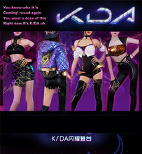 NEW!HOT GAME LOL KDA Group Akali Ahri Evelynn Kaisa Cosplay Costume ALL MEMBER Uniform free shipping