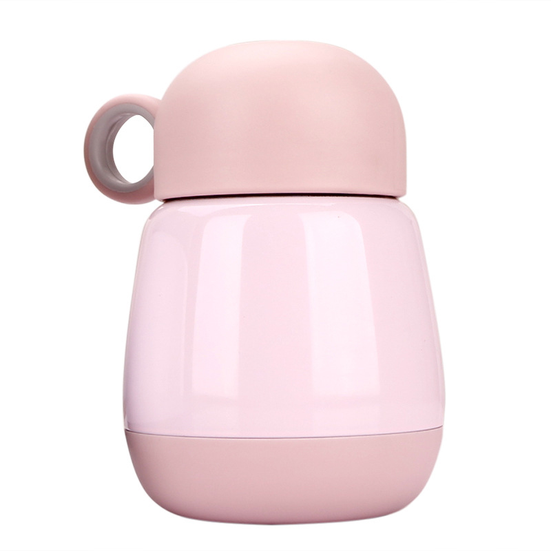245ml Double Vacuum Stainless Steel Bottle Thermos Cup Portable Handle Bottle Adult Baby Drinking Cup Winter Insulation Bottle creative fashion portable stainless steel vacuum cup