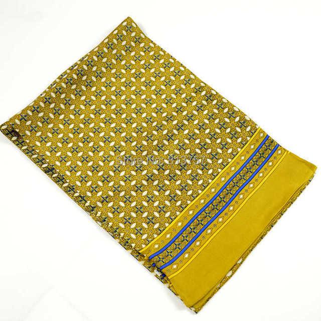Chirstmas homem inverno Silk Scarf impresso 100% amoreira Jacquard de seda masculino cachecol outono inverno