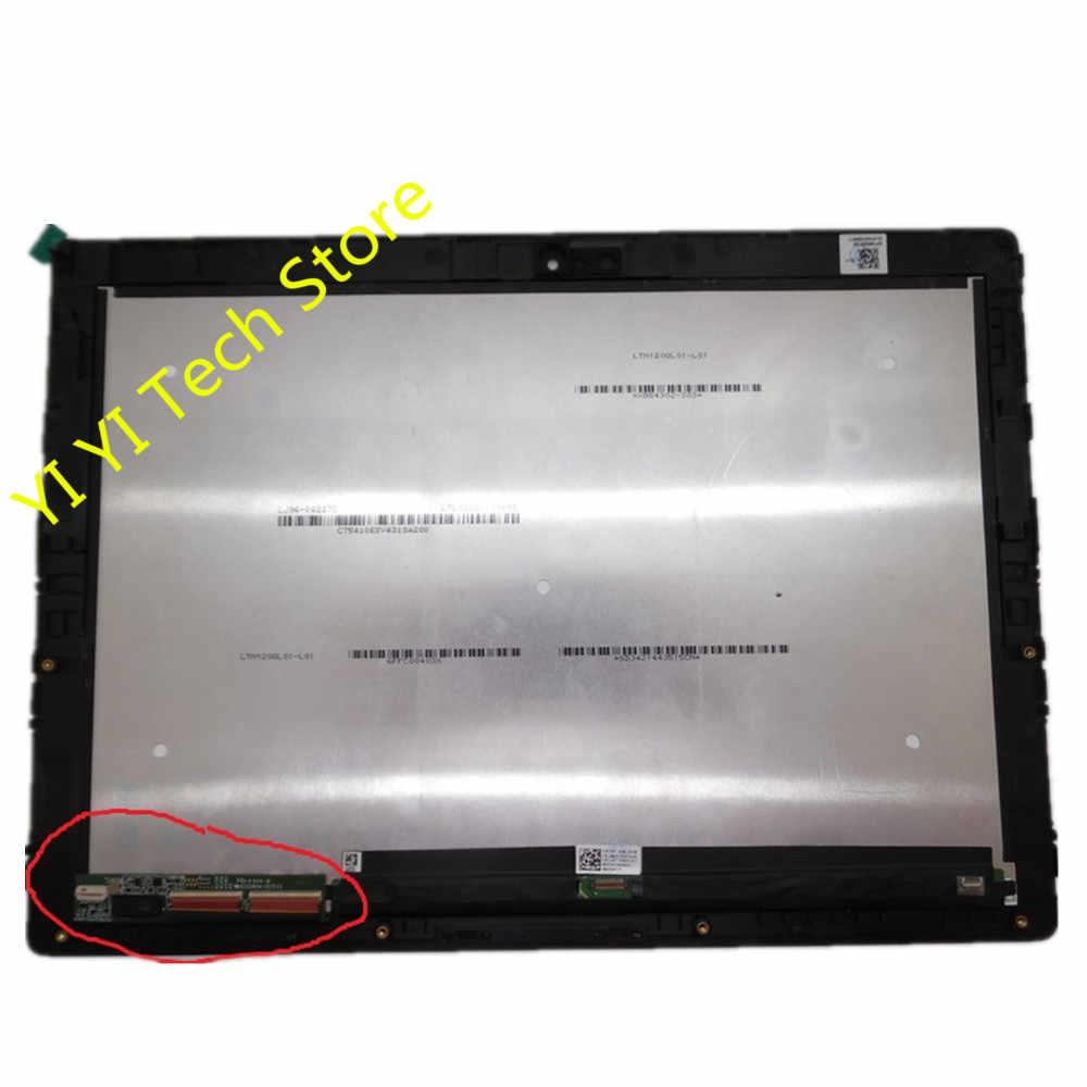 """Для lenovo Miix 700-12ISK 80QL светодиодный ЖК-дисплей для 12 """"сенсорный экран в сборе 80QL0001US с рамкой"""