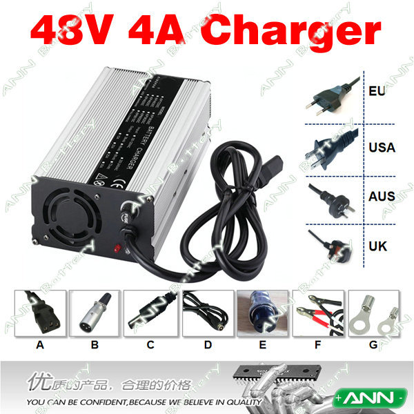48V 4A LiFePO4 Battery Charger 16S 58 4V 4A Battery Charger Used for 48V 10Ah 20Ah