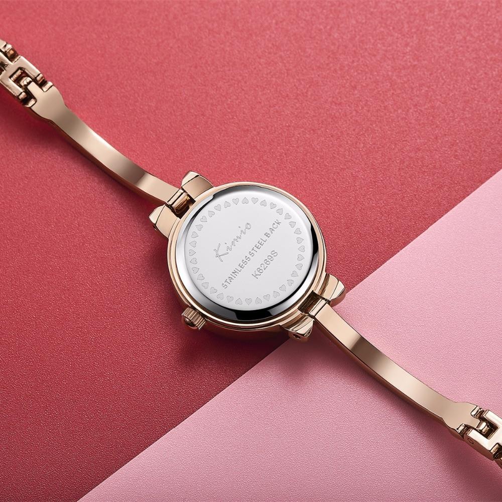 Kimio Lüks Kadınlar İzle Ünlü Marka Altın Moda Tasarım Bilezik - Kadın Saatler - Fotoğraf 6