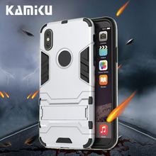Shockproof Armor For iphone 5 5s Phone case SE 6 6S 7 8 Plus coque X Xr With Stand For Apple Xs Max cover luxury Protect funda цена и фото