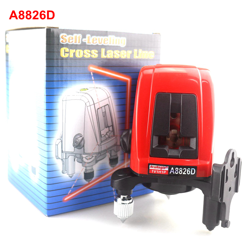 ACUANGLE A8826D Laser Level 2 Red Lines with 1 Point 360 degree Rotation Self- leveling Cross Laser Levels thyssen parts leveling sensor yg 39g1k door zone switch leveling photoelectric sensors