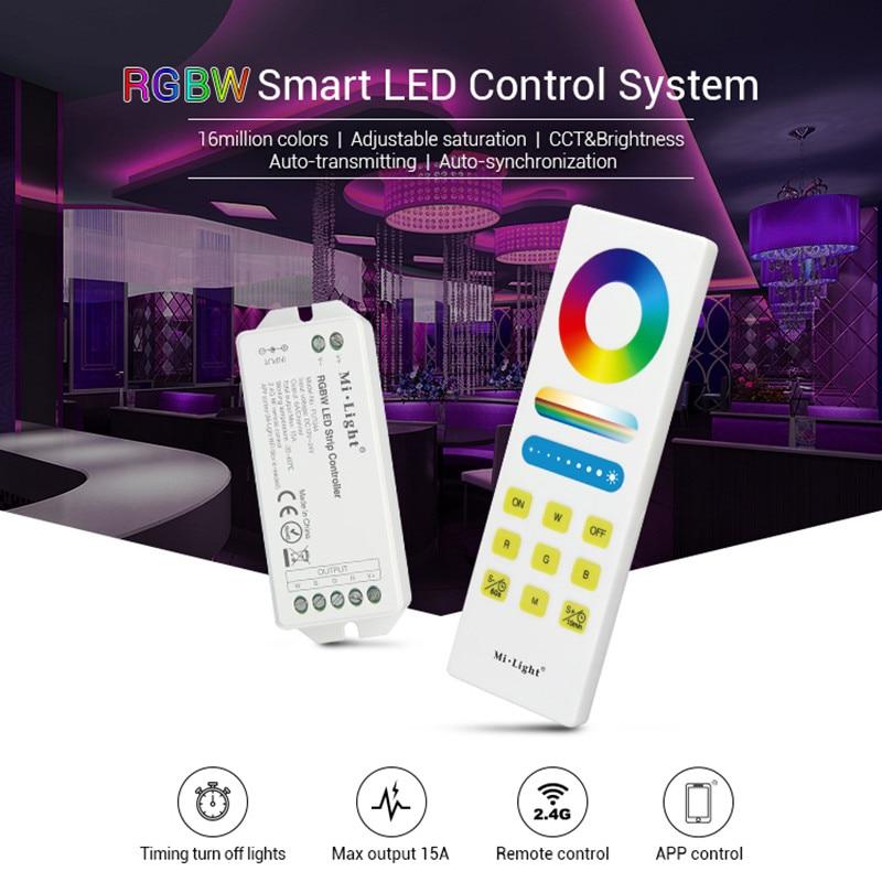 Mi.light Fut044 Rgbw Led Strip Controller Dc12v~24v 2.4g Wireless Wifi Turn Off Light Timing Control Smart App Phone Controller Lights & Lighting