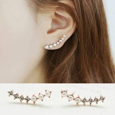 Long Stud Earrings Crisscross Long Drop Stud Earrings ...