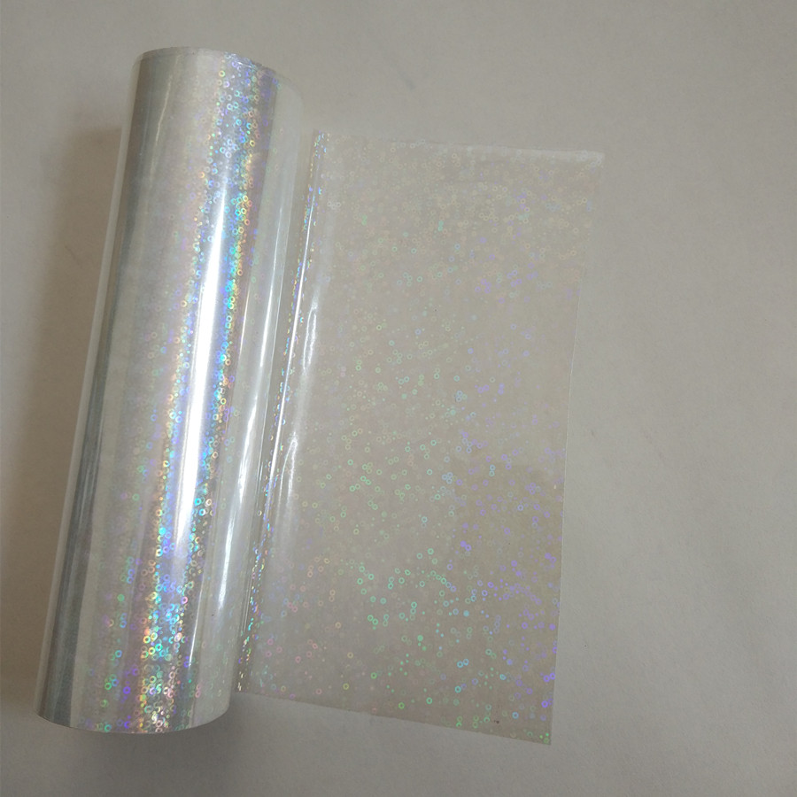 Holographic foil transparent Small circle Y06 stamping foil hot press on paper or plastic heat stamping