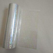 Holographic ฟอยล์โปร่งใสวงกลมขนาดเล็ก Y06 ปั๊มฟอยล์ร้อนกดบนกระดาษหรือพลาสติกปั๊มฟิล์ม