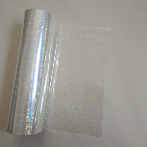Image 1 - Holographic foil  transparent Small circle Y06 stamping foil hot press on paper or plastic heat stamping film