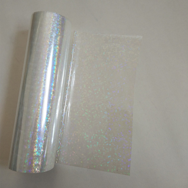 Holographic foil  transparent Small circle Y06 stamping foil hot press on paper or plastic heat stamping film