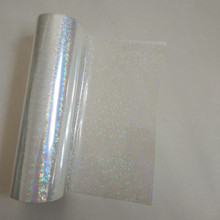 Lámina holográfica transparente de pequeño círculo Y06, lámina de estampación en caliente para papel o película de estampación en caliente de plástico