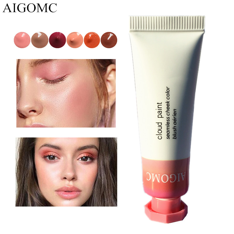 AIGOMC New Makeup Blush Liquid Woman's Fashion Pink Decoration Blusher Matte Nude Makeup Repair Blush Rouge Beauty Products