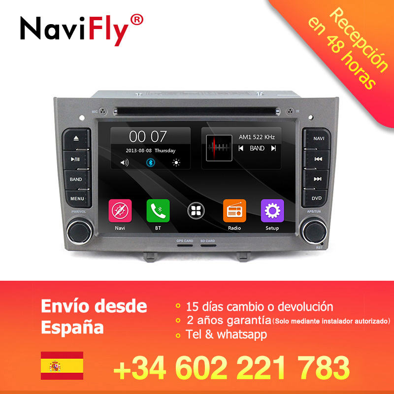 Free shipping!Lowest price 7inch 2din car multimedia player for <font><b>Peugeot</b></font> 308 408 <font><b>308SW</b></font> with canbus support BT RDS FM Free 8G map image