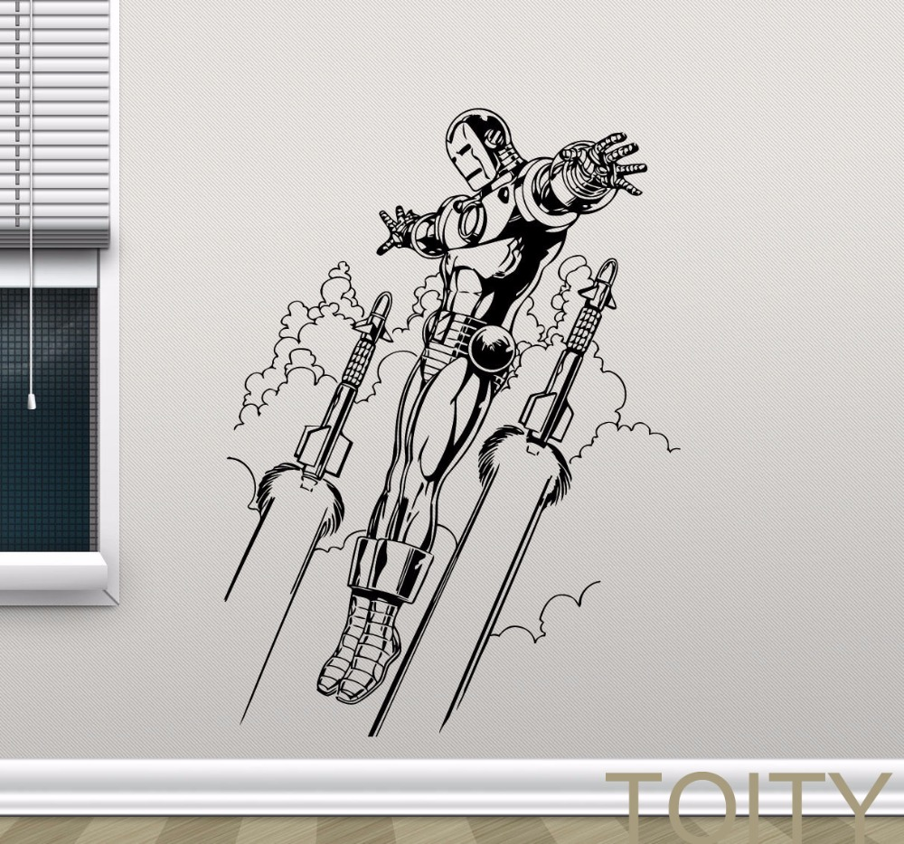 Avengers Superheroes Wall Sticker Iron Man Vinyl Decal Movie - Vinyl wall decals avengers
