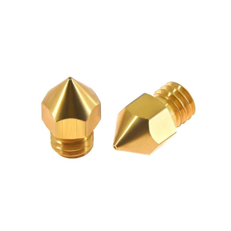Peças de Impressoras 3D MK7 MK8 Bico 0.2 milímetros 0.3 milímetros 0.4 milímetros 0.5 milímetros de Cobre Rosca 1.75 milímetros Filamento Extrusora cabeça de Bronze Bicos Parte