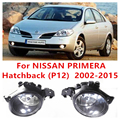For NISSAN PRIMERA Hatchback (P12) 2002-2015 Car Styling FOG LAMPS Front Bumper Halogen Fog Lights High Brightness