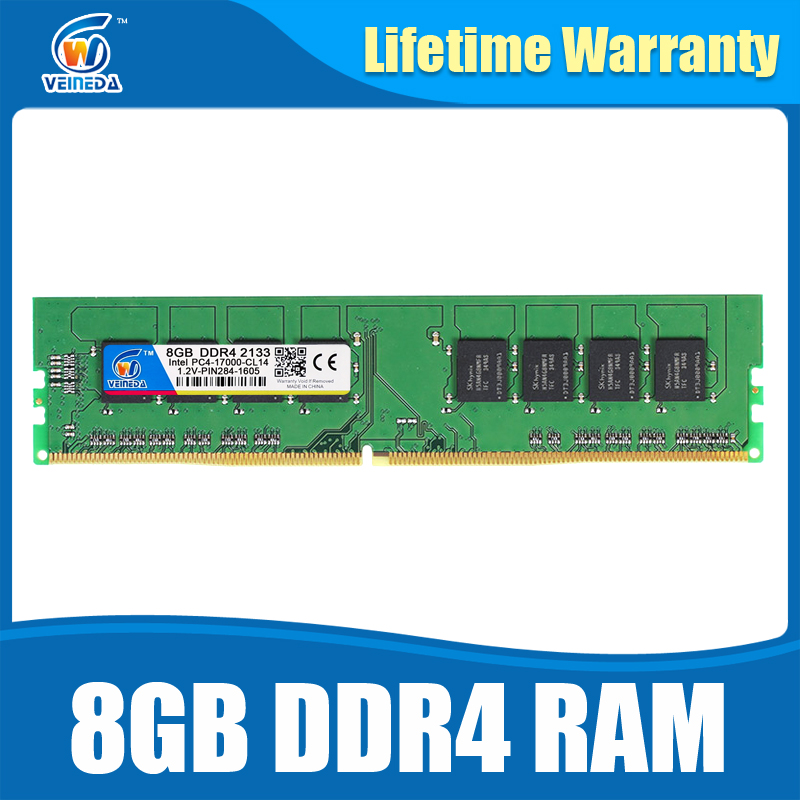 Ram DDR4 8GB PC4-19200 Memory Ram ddr 4 2400 For Intel AMD DeskPC Mobo ddr4 8 gb 284pin Brand Dimm