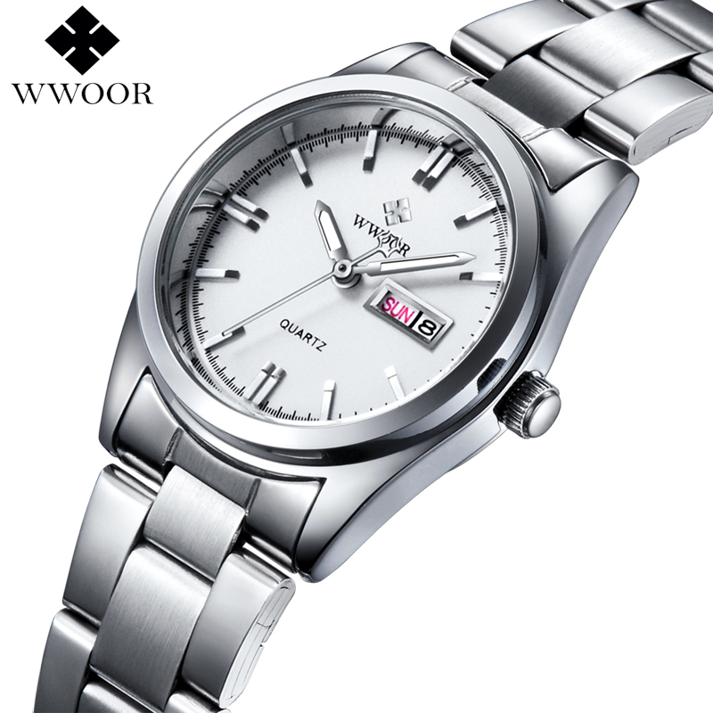 цена на Luxury Brand Women Watches Women Quartz Date Analog Clock Ladies Silver Stainless Steel Casual Wrist Watch Female Montre Femme