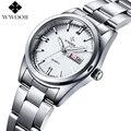 Marca de lujo relojes de Las Mujeres Relojes de Cuarzo Fecha Reloj Analógico Señoras de Plata de Acero Inoxidable Casual Reloj Mujer Montre Femme