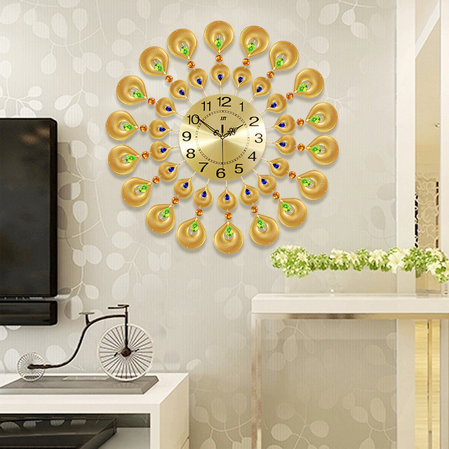 Large Wall Clock Saat Relogio de Parede Metal Wall Clocks Duvar ...