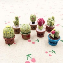 hot deal buy 7pieces mixed 3d resin cactus fairy garden miniatures terrarium decoration figurines diy craft for dollhouse accessories 25-30mm