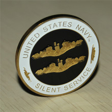15PCS/Lot free shipping, The United States SILENT SERVICE Navy Marine Corps Challenge Coin, Gold palted high quality coins the united states marine corps workout rev