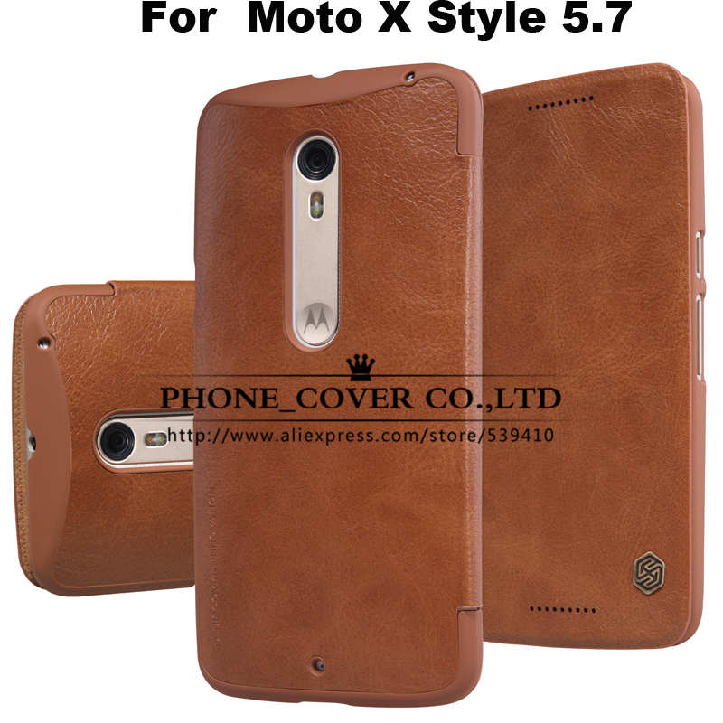 Nillkin Genuine Wallet Leather Case Cover for Motorola Moto X Style XT1572 XT1570 5.7 Phone cases For Moto X Pure Edition + Film