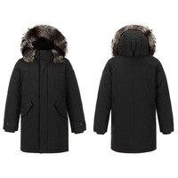 Бесплатная доставка! Высокое качество! Лыжная куртка 90% гусиный пух с воротником из меха лисы
