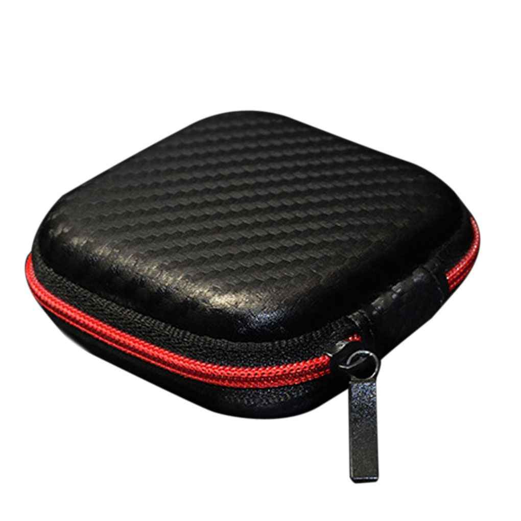 Portable Universal Mini Headphone Earphone Case Earbuds SD Card Hard Pouch Bag