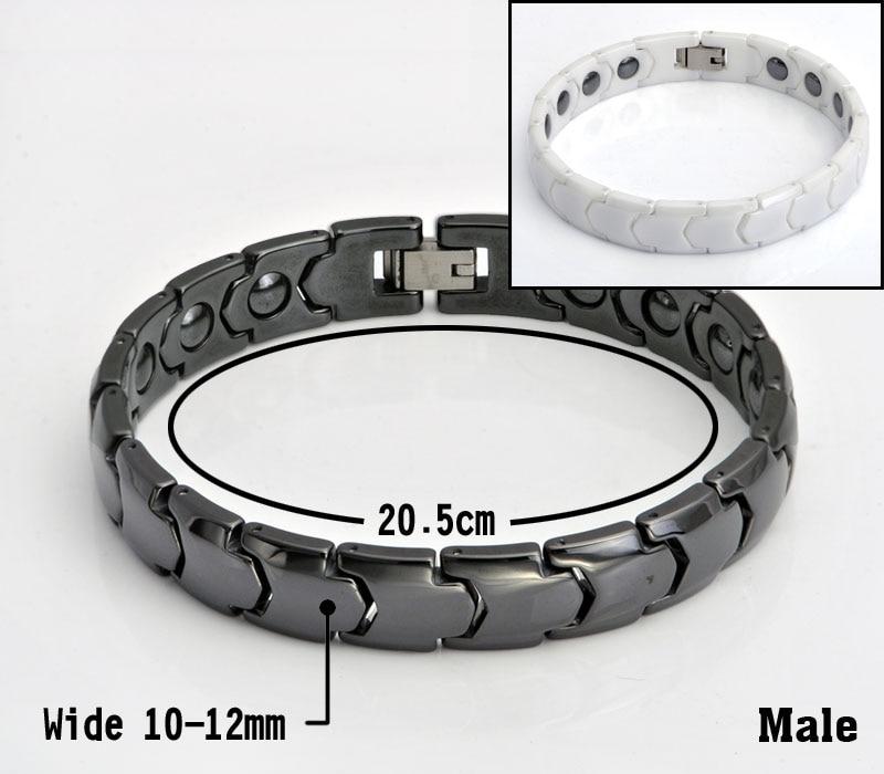 Hottime Black White Keramiska Magnetiska Terapi Armband Bio Element - Märkessmycken - Foto 5