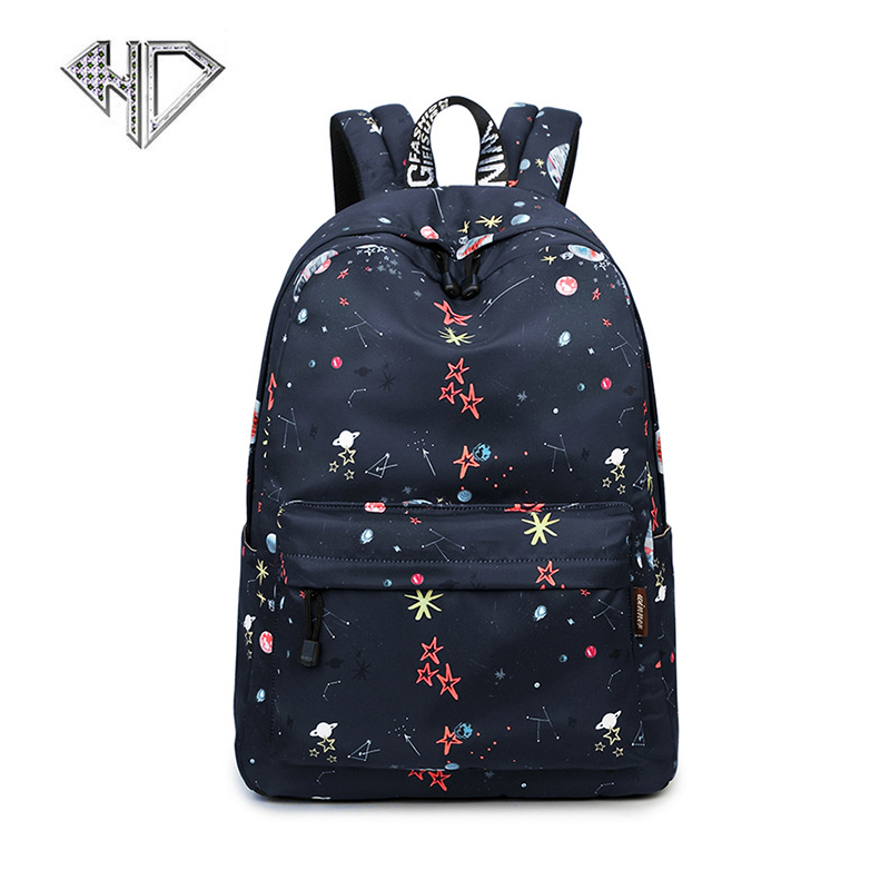 Fashion Women Backpack High Quality Youth Polyester Backpacks For Teenage Girls Female School Shoulder Bag Mochila D5E9 2016new rucksack luxury backpack youth school bags for girls genuine leather black shoulder backpacks women bag mochila feminina