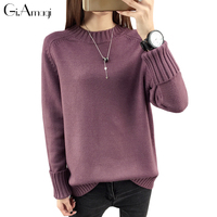 Pullover Woman Autumn Winter Round Neck Sweaters Women S Loose Thickening Sweater New 2017 Pulover Feminino