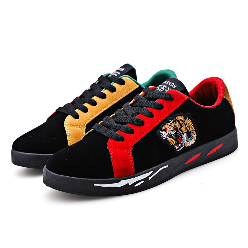 2019 Leather Sneakers Men Casual Shoes Training Jogging Boy Shoe Boy Platform Walking Tiger Head Man Sport Breathable Flats G558