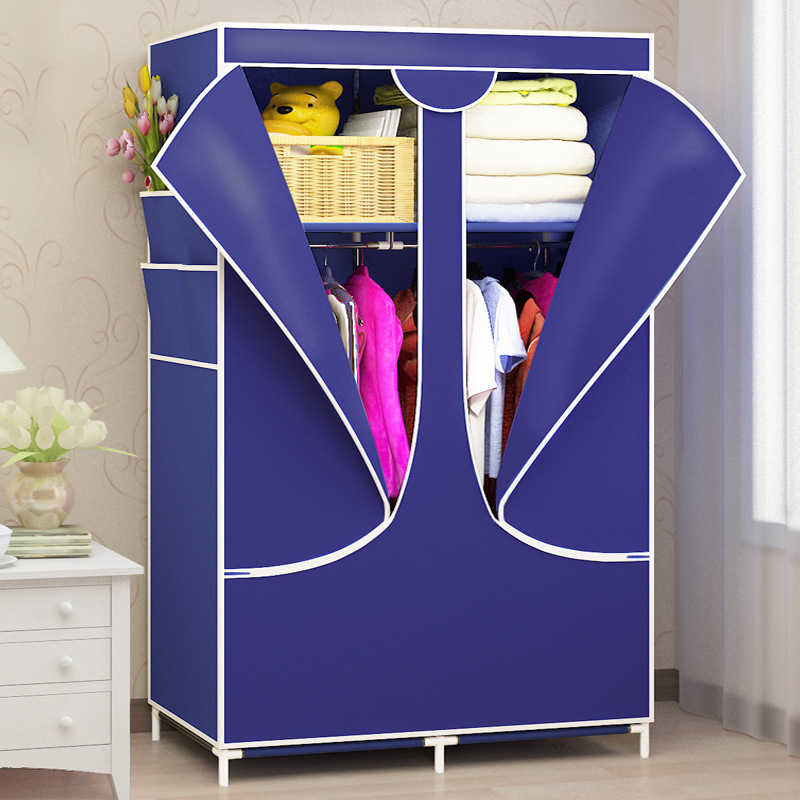 Fashion Simple Non-woven Cloth Wardrobe Closet Folding Clothing Storage Cabinet Wardrobe Made Of Cloth Wardrobe Closet Furniture